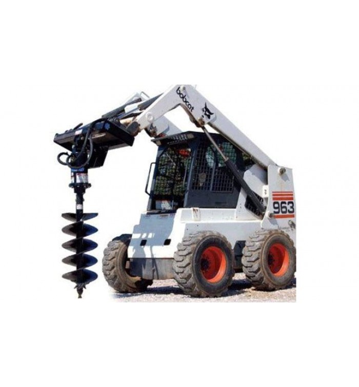 Bobcat Loader With Auger Drill For Rental Mob 0543021937 Daily