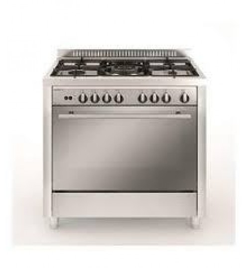 Glem Gas Cooker 90X60, 4 Gas+2 Electric, Steel