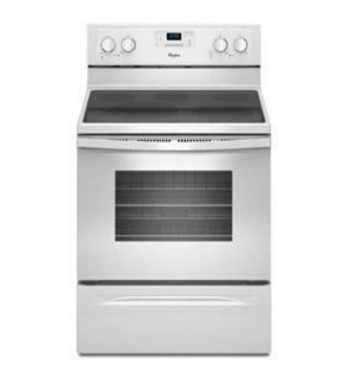 Whirlpool Self Clean Ceramic Electric Range ,White