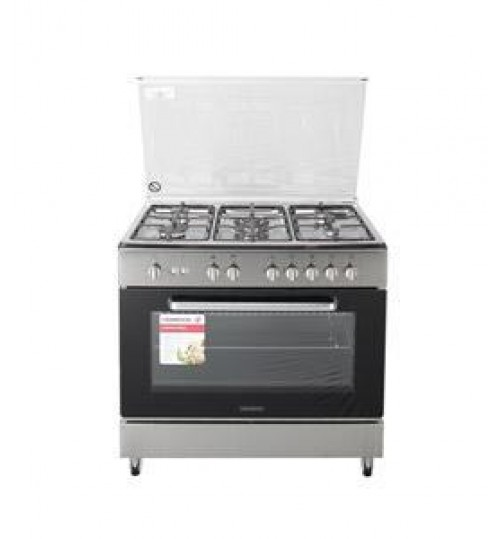 Kenwood Gas Cooker, 90X60, Timer, 5 Gas Hobs, SS