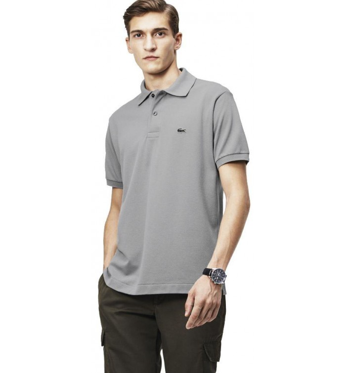 389f4493df727 Lacoste Polo T-Shirt for Men - Grey - Size 5 US - 094126 KC8- The ...