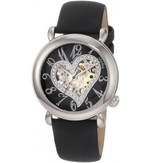 Stuhrling Casual Watch for Women - Leather, Black, 109SW.121B1