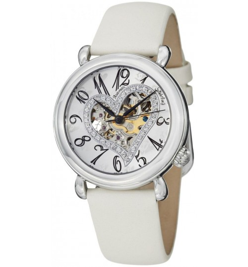 Stuhrling Casual Watch for Women - Leather, Off-White, 109SW.1215P2