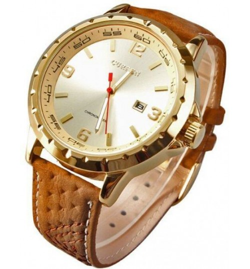 CURREN Watch For Men [leather,Quartz]-8120GG
