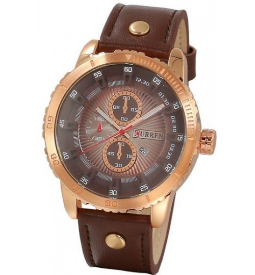 Curren Casual Watch For Men Analog Leather - 8923