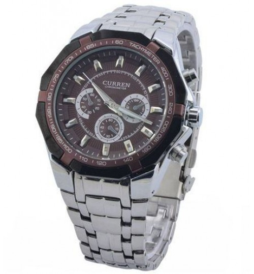 Stainless Steel Quartz Analog Men's Watches
