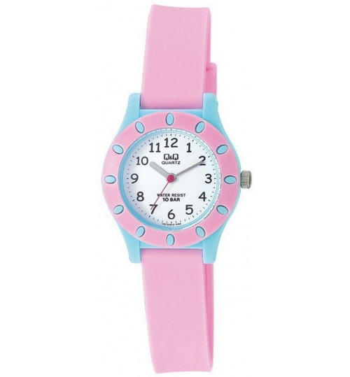 Q&Q Kid's White Dial Plastic Band Watch - VQ13J012Y