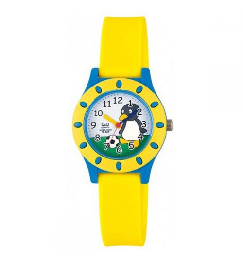 Q&Q Kid's Light Blue Dial Resin Band Watch VQ13J004Y