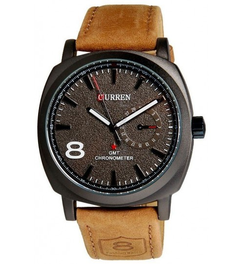 Curren for Men - Sports Leather Band Watch - 8139