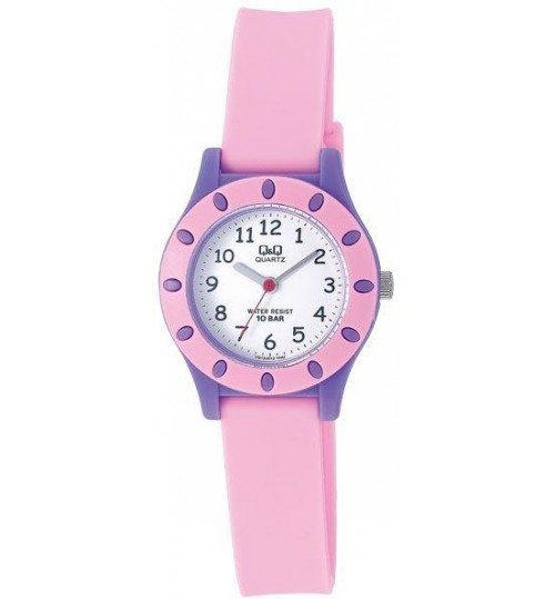 Q&Q Kid's White Dial Plastic Band Watch - VQ13J013Y