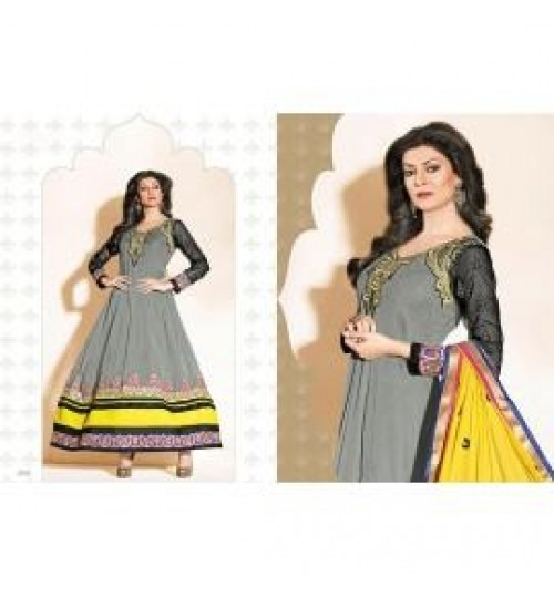 Sushmita Sen Exclusive Designer Anarkali Semi-Stiched Dress material - 11004-fwc21000395