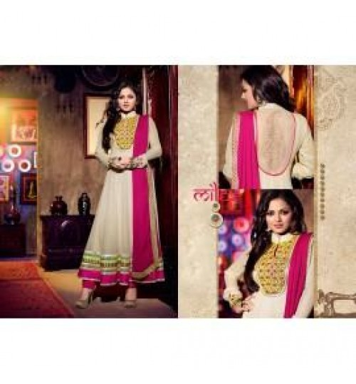 Madhubala Pure Georgette Anarkali Semi-Stiched Suit New-42008