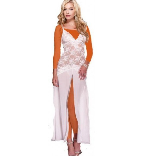 SleepWear Made of Chiffon, White, R79692