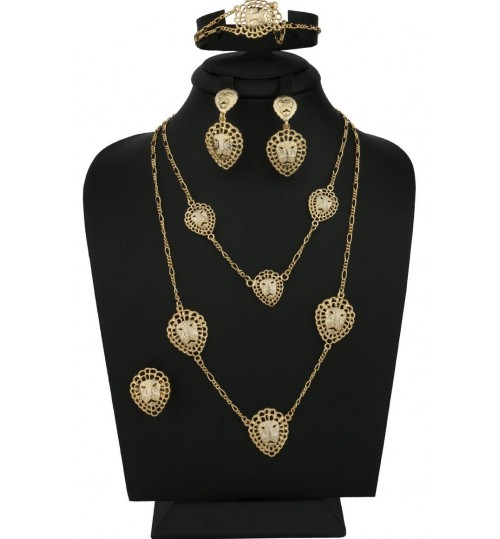 Jewelry Set For Women by FullMarck , 4 pieces, Gold Plated