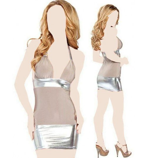 Smoothens Women Babydoll Shapewear Free Size - Silver