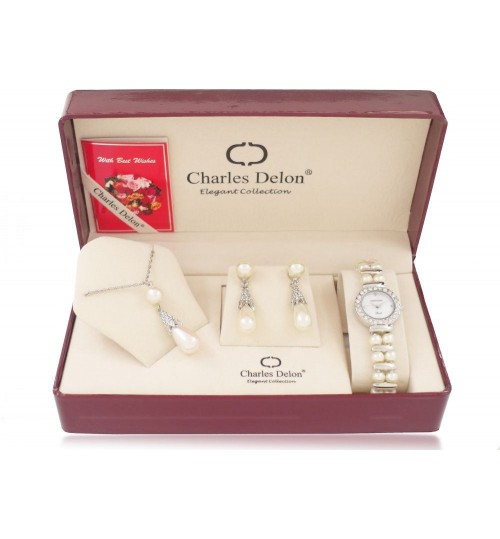 Charles Delon 5045 LPMW Set Watch with accessories for women