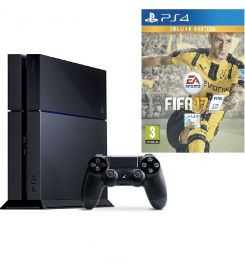 PlayStation 4 ,Sony,500 GB ,Fifa17 ,Guarantee 2 Years from Agent Sony Saudi Arabia