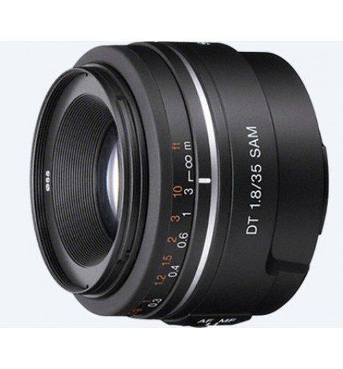 Sony Lens,SINGLE FOCUS LENS FOR ALPHA SERIES 35MM,DT 35 mm F1.8 SAM,SAL35F18,Agent Guarantee