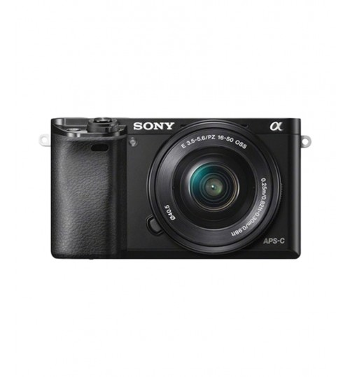 Sony Camera, Alpha A6000 ILCE-6000L Mirrorless DigCam,Blk,24 MP,ILCE-6000L,Agent Guarantee