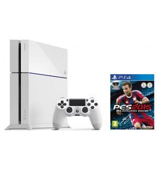 PlayStation 4 ,Evolution Soccer 2015,White,PS4 WHITE+Pro Evolution Soccer 2015,Agent Guarantee