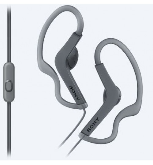 Headphone sony,Sports In-ear Headphones,MDR-AS210AP,13.5mm driver provides clear and detailed sound,Black,Agent Guarantee