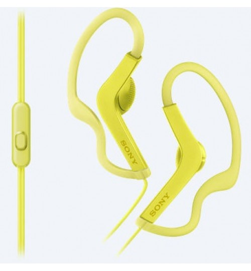 Headphone sony,Sports In-ear Headphones,MDR-AS210AP,13.5mm driver provides clear and detailed sound,Green,Agent Guarantee