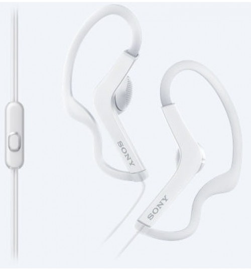 Headphone sony,Sports In-ear Headphones,MDR-AS210AP,13.5mm driver provides clear and detailed sound,White,Agent Guarantee