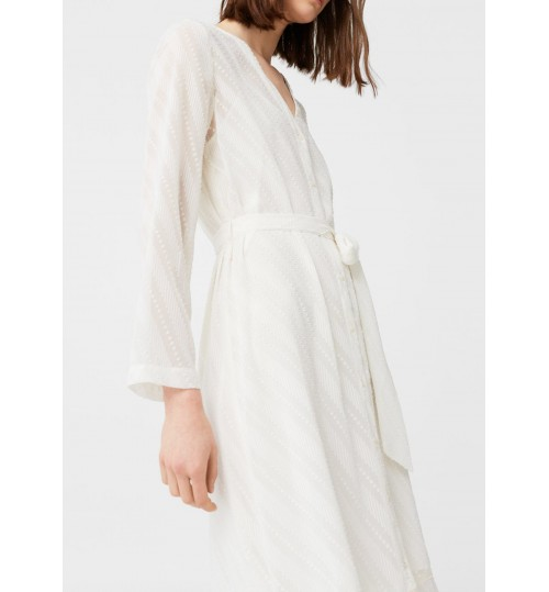 MANGO Textured Flowy Dress