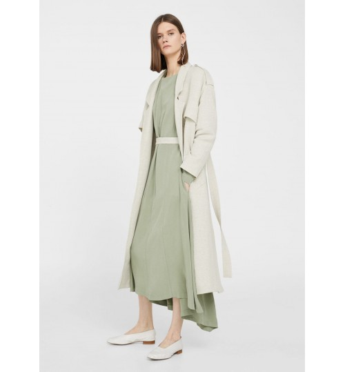 MANGO Cotton Linen-Blend Trench Coat