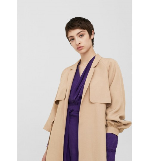 MANGO Belt Trench Coat