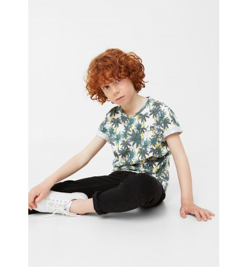 MANGO Kids Palm Print T-shirt