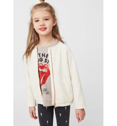 MANGO Kids Message Textured Jacket