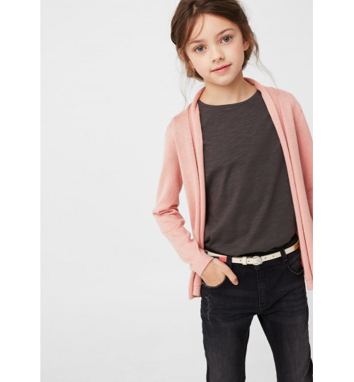 MANGO Kids  Fine-Knit Flecked Cardigan