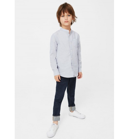 MANGO Kids Embroidered Detail Shirt