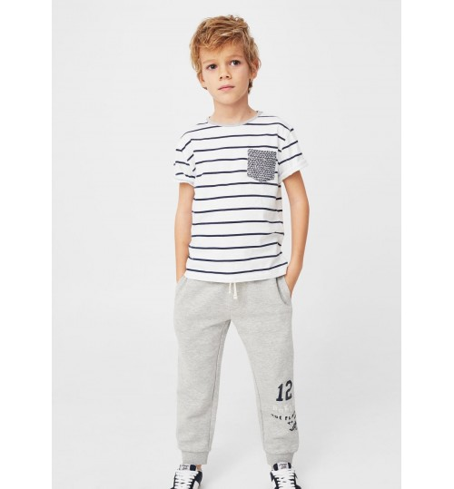 MANGO Kids  Jogging Flecked Trousers