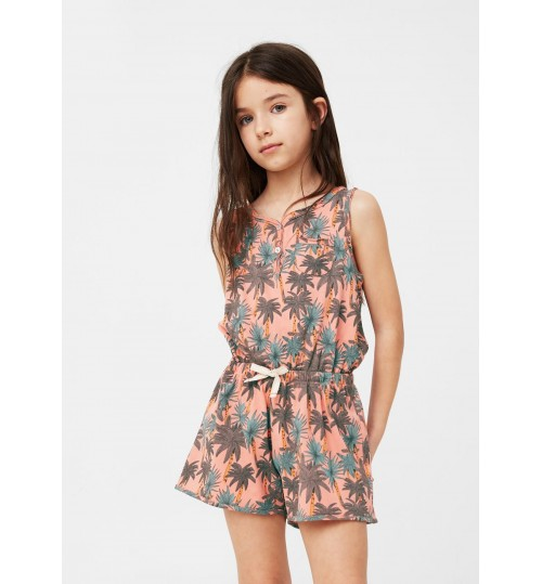 MANGO Kids Printed Short  Jumpsuit