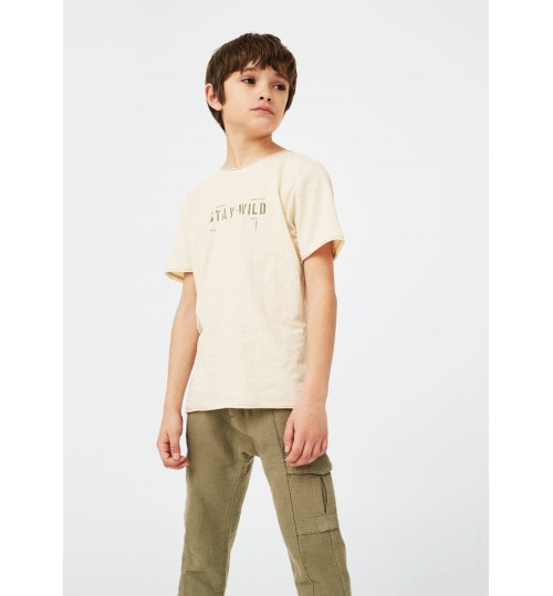 MANGO Kids Message Cotton T-Shirt