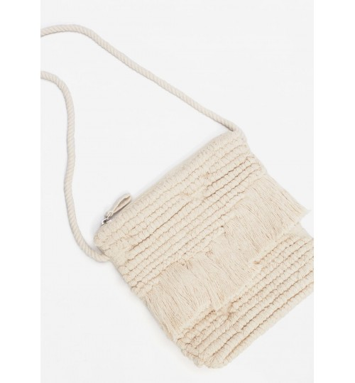 MANGO Kids Girl Fringed Cross-Body Bag