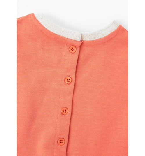 MANGO Baby Girl Contrast Detail Dress