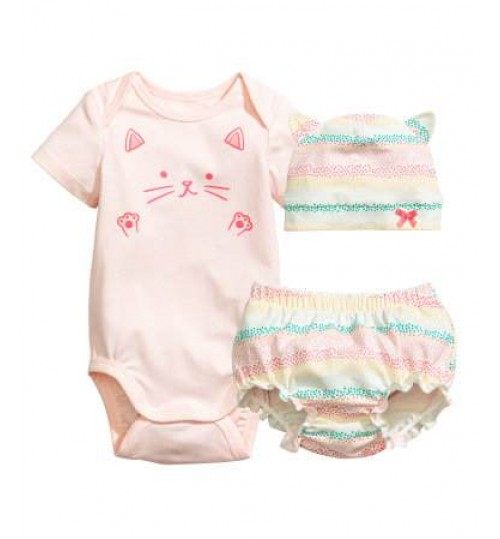 H&M Baby Girl 3-Piece  Jersey  Set