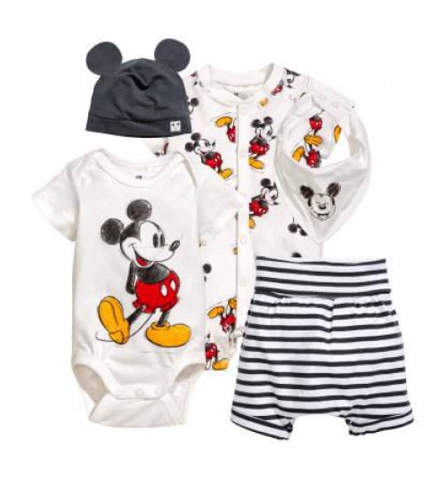 H&M Baby Girl 5-Piece Jersey Set