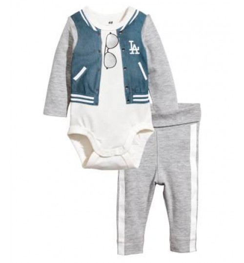 H&M Baby Boy Bodysuit And Trousers