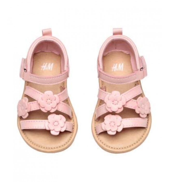 H M Baby Girl Sandals- Sandals in imitation leather with padding at ...