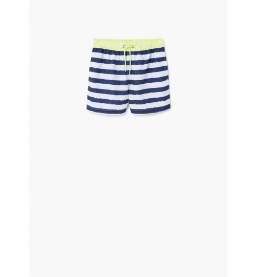 MANGO Kids Boy Striped Swimsuit