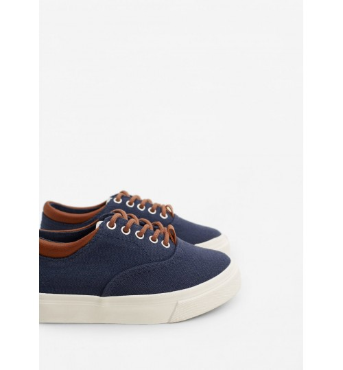 MANGO Kids Boy Canvas Sneakers