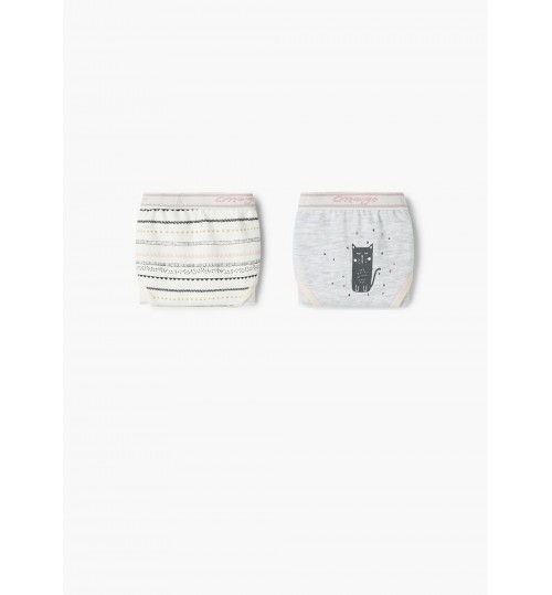 MANGO Kids Girl 2 Pack Printed Panties