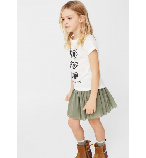 MANGO Kids Printed Cotton T-shirt
