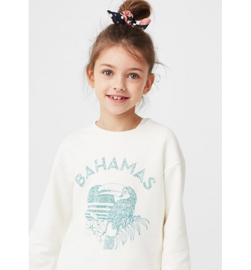 MANGO Kids Printed Plush Cotton Sweatshirt