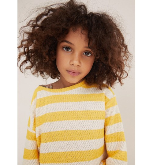 MANGO Kids Striped Cotton Sweater