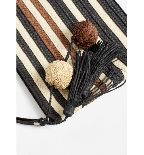 MANGO Straw Cosmetic Bag